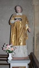 Eglise Saint-Vincent - Français:   Statue de saint dans l\'église Saint-Vincent de Réaux, Charente-Maritime, Poitou-Charente, France.