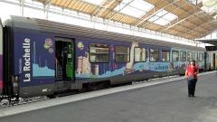 Gare -  Sur la ligne Bordeaux-Nantes, malgré les travaux entre La Rochelle et La Roche-sur-Yon  qui portent à 4h50 la durée du trajet, la fréquentation a gagné 4% de voyageurs.