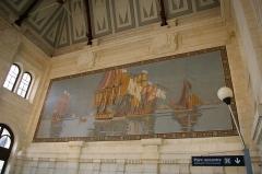 Gare - Nederlands: Station La Rochelle-Ville, mozaïek in de stationshal