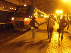 Gare -  Avec le transfert de la gestion des TER aux Régions, un projet de liaison périurbaine entre Rochefort et La Rochelle a été réalisé, complété avec la réouverture d'anciennes gares ou la création de haltes ferroviaires.  La B 81739/740 a été mise en service le 26 novembre 2008.