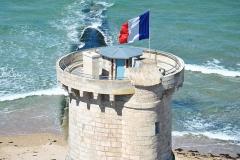 Vieux Phare des Baleines et phare des Baleineaux -  Tour des Baleines vue du sommet du Grand phare (59,39 m - 257 marches)