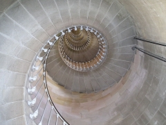 Vieux Phare des Baleines et phare des Baleineaux - English:   This is the internal stairs of the \