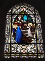 Ancienne abbaye Saint-Jean-Baptiste - English:   Église Saint-Jean-Baptiste de Saint-Jean-d\'Angély, vitrail 02