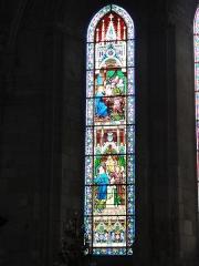 Ancienne abbaye Saint-Jean-Baptiste - English:   Église Saint-Jean-Baptiste de Saint-Jean-d\'Angély, vitrail 03, signature: G. JOUAN PARIS