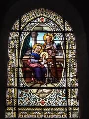 Ancienne abbaye Saint-Jean-Baptiste - English:   Église Saint-Jean-Baptiste de Saint-Jean-d\'Angély, vitrail 04
