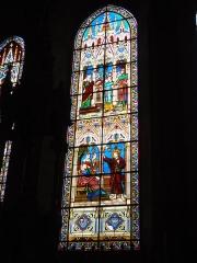 Ancienne abbaye Saint-Jean-Baptiste - English:   Église Saint-Jean-Baptiste de Saint-Jean-d\'Angély, vitrail 05
