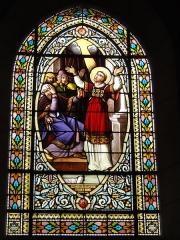 Ancienne abbaye Saint-Jean-Baptiste - English:   Église Saint-Jean-Baptiste de Saint-Jean-d\'Angély, vitrail 09