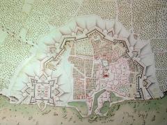 Citadelle et fortifications - English: Saint_Martin_de_Re_17th_century_map