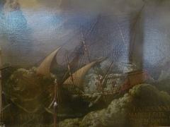 Eglise Saint-Martin dite Le Grand Fort - Français:   Tableau dans la chapelle des marins; intérieur de l\'église Saint-Martin de Saint-Martin-de-Ré; Île de Ré, France