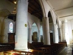 Eglise Saint-Martin dite Le Grand Fort - Français:   Vue vers l\'entrée principale; intérieur de l\'église Saint-Martin de Saint-Martin-de-Ré; Île de Ré, France