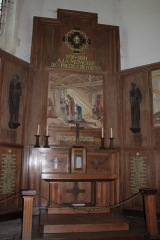 Eglise Saint-Martin dite Le Grand Fort - Français:   Tryptique Monument aux Morts (pan central), église Saint-Martin, Fr-17-Saint-Martin-de-Ré.