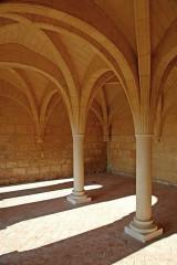 Ruines de l'ancienne abbaye - Deutsch: Abtei Trizay, Kapitelsaal, Pfeiler