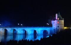 Pont Henri IV - Français:   Le pont Henri-IV vu de la rive Ouest au Nord du pont, photographié lors de la commémoration de son 400e anniversaire en Septembre 2009.
