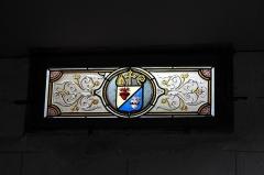 Eglise Notre-Dame - Deutsch:   Katholische Pfarrkirche Notre-Dame in Chauvigny im Département Vienne (Nouvelle-Aquitaine/Frankreich), Bleiglasfenster