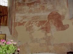 Eglise de Saint-Pierre-les-Eglises - Français:   Photographie d\'une des fresques de l\'abside de l\'église de fr:Saint-Pierre-les-Églises près de fr:Chauvigny dans la Vienne, prise par Accrochoc le 23 août fr:2006.