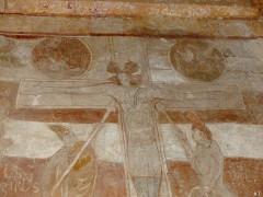 Eglise de Saint-Pierre-les-Eglises - Français:   crucifixion détail