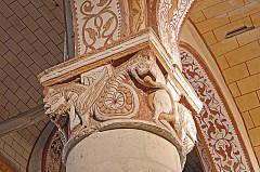Eglise Saint-Gervais Saint-Protais - Deutsch: Civaux, Kirche, Kapitell, Monstren