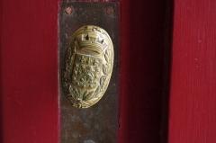 Hôtel de ville - Français:   Petite poignée de porte de l\'hôtel de ville de Poitiers, portant les armoiries de la cité.