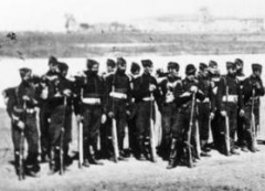 Manufacture d'armes, actuellement Musée de l'automobile -  French troop, Metz, Aug, 1870.