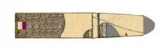 Manufacture d'armes, actuellement Musée de l'automobile - English: Internal constitution of paper cartridge for Chsassepot/Fusil modèle 1866