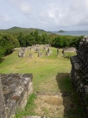 Habitation sucrière, dite Château-Dubuc, sur la presqu'île de la Caravelle - Ruines de différents bâtiments du Château Dubuc, sur la presqu'île de la Caravelle, en Martinique