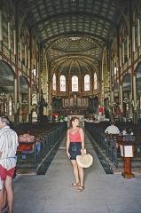 Cathédrale Saint-Louis - English: Interior St. Louis Cathedral, Fort-de-France (35mm photographed 1998)