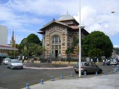 Cathédrale Saint-Louis -  Schoelcher library in Fort-de-France, Martinique.