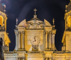 Cathédrale - English: Top of the northern facade of the cathedral of Our Lady of Nancy, Meurthe-et-Moselle, France
