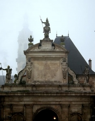 Porte Saint-Georges -  утро  туманное