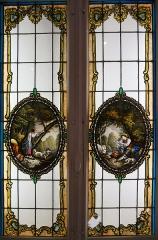 Château, actuellement Musée municipal - vue de la collection de vitraux au Musée barrois.