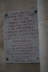 Eglise Saint-Pantaléon - Français:   dédicace du chœur de l\'Église Saint-Pantaléon.