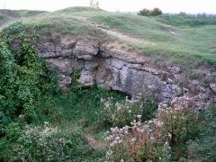 Fort -  Fort de Douaumont - Partie détruite, laissant apparaître l'épaisseur de la structure
