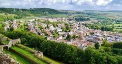 Citadelle - Deutsch: Blick von der Zitadelle, Montmédy, Département Meuse, Region Lothringen (heute Grand Est), Frankreich