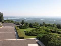 Monument commémoratif américain - English: View from Butte de Montsec on Lac de Madine