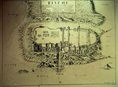 Citadelle - Deutsch: Die Zitadelle von Bitch umgeben von Feuchtgebieten; Teichen und Sumpf
