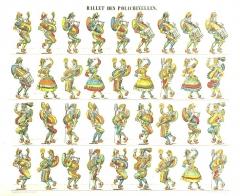Imagerie Pellerin (bâtiments et machines qu'ils renferment) - Français:   Ballet des polichinelles, Pellerin, 1855.
