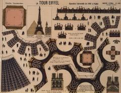 Imagerie Pellerin (bâtiments et machines qu'ils renferment) -  The Eiffel Tower, 1889 Universal Exposition in Paris, Imagerie d\'Epinal print No.418