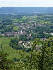 Zone archéologique - Français:   Panorama depuis la Pierre d\'Appel (Etival-Clairefontaine, Vosges)