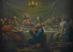Ancienne abbaye - Français:   Abbaye de Moyenmoutier (Vosges): tableau La Cène, XVIIIe s., MH. Derrière l\'autel.