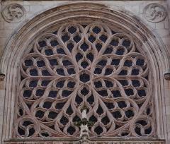 Eglise Saint-Eloi - Deutsch: Rosette der Kirche St. Éloi, Dünkirchen, Département Nord, Region Oberfrankreich (ehemals Nord-Pas-de-Calais), Frankreich