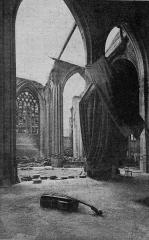 Eglise Saint-Eloi -  Saint-Eloi church in Dunkerque during World War 1:
