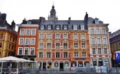 Immeubles - Deutsch: Großer Platz/Platz Charles de Gaulle, Lille, Département Nord, Region Oberfrankreich (ehemals Nord-Pas-de-Calais), Frankreich