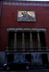 Immeuble, siège du Cercle Phylosophique et Culturel -  Lille. Dans les rues du Centre-Ville. Architecte: Albert Baert