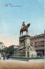 Statue de Faidherbe - English: Postcard, dated 9.9.1914. Title: