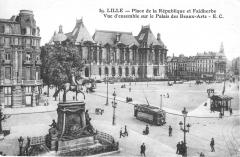 Statue de Faidherbe - Nederlands: Place de la Republique in 1908
