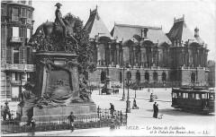 Statue de Faidherbe - Nederlands: Briefkaart van Rijsel
