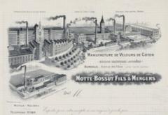 Usine Motte-Bossut, actuellement centre des archives du monde du travail - Deutsch:   Karte mit der Fabrik Motte-Bossut in Roubaix