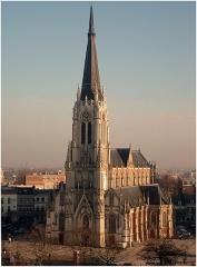 Eglise Saint-Christophe - Tourcoing (France - dép. du Nord) — L'église Saint Christophe vue du haut du beffroi de l'ancienne chambre de commerce - 2007