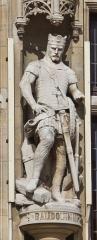 Hôtel de ville - English: Town hall of Dunkerque - statue of Baudoin III de Flandre