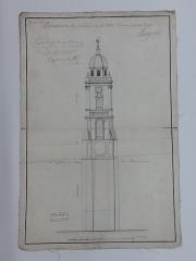 Hôtel de ville et beffroi - Français:   Archive datant de 1715